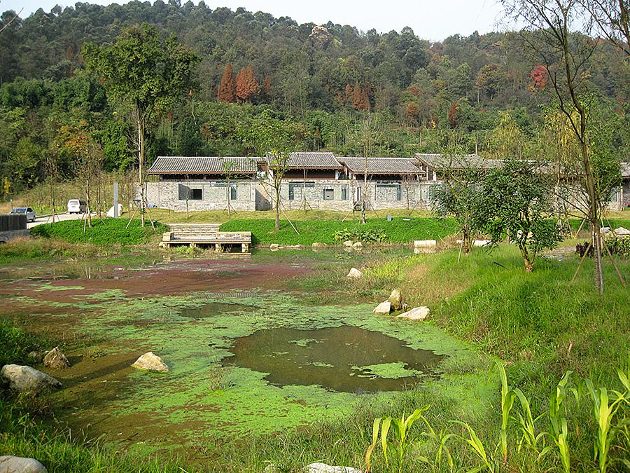 都江堰大熊猫救护与疾病防控中心生态水池